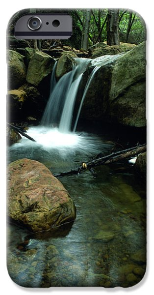 Waterfall in the Woods iPhone Case by Kathy Yates