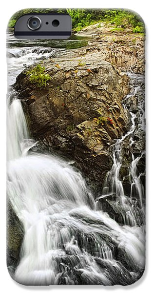 Waterfall in wilderness iPhone Case by Elena Elisseeva