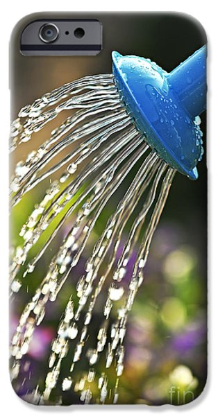 Watering flowers iPhone Case by Elena Elisseeva