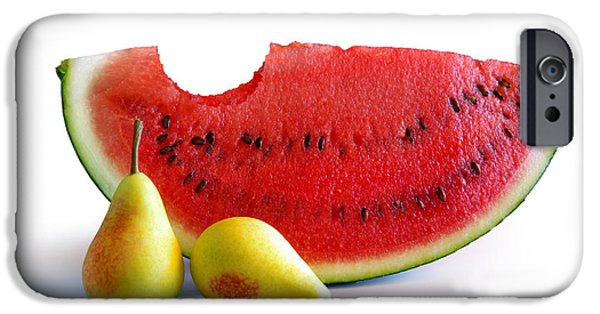 Pears iPhone Cases - Watermelon and Pears iPhone Case by Carlos Caetano