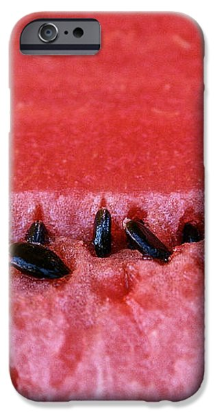 Watermelon Seeds iPhone Case by Susan Herber