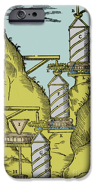 Reverse Art iPhone Cases - Watermill Reversed Archimedean Screw iPhone Case by Science Source