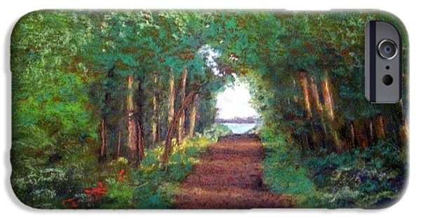 Pathway Pastels iPhone Cases - Watmough Trail iPhone Case by Ginny Neece