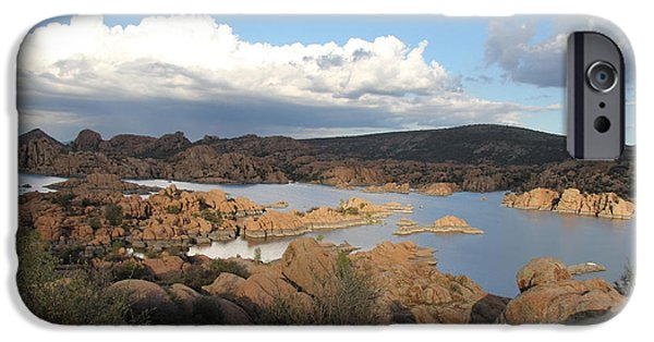 Prescott Arizona iPhone Cases - Watson Lake 2 iPhone Case by Diane  Greco-Lesser