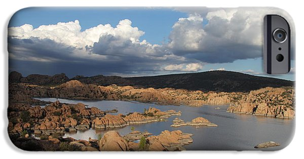 Prescott Arizona iPhone Cases - Watson Lake 3  iPhone Case by Diane  Greco-Lesser