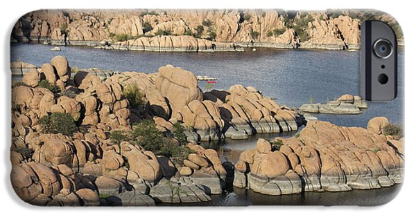 Prescott Arizona iPhone Cases - Watson Lake 4  iPhone Case by Diane  Greco-Lesser