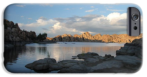 Prescott Arizona iPhone Cases - Watson Lake 5  iPhone Case by Diane  Greco-Lesser