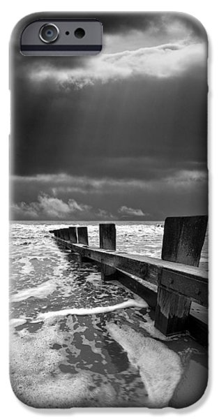 Environment Photographs iPhone Cases - Wave Defenses iPhone Case by Meirion Matthias