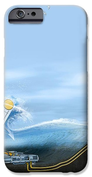 Wave Energy Converter, Artwork iPhone Case by Claus Lunau