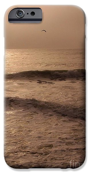 Sea Birds iPhone Cases - Waves coming in   iPhone Case by Jeff  Swan