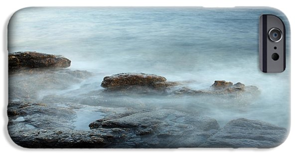 Incoming Tide iPhone Cases - Waves On The Coast iPhone Case by Ted Kinsman