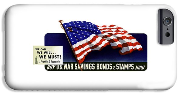 American Flag iPhone Cases - We can We will We must  iPhone Case by War Is Hell Store