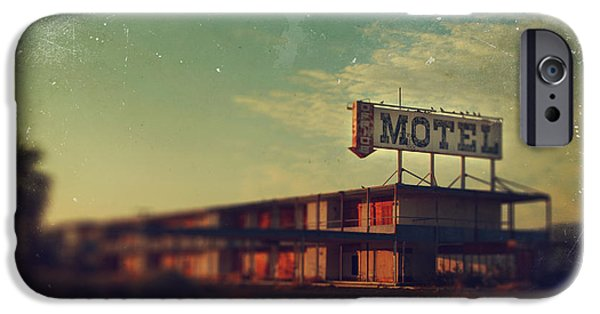 Dilapidated Digital Art iPhone Cases - We Met at the Old Motel iPhone Case by Laurie Search