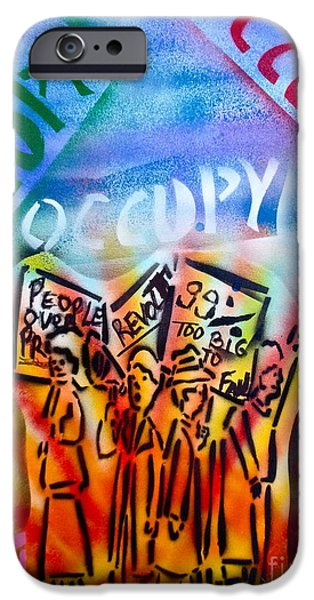 Occupy Paintings iPhone Cases - We Occupy iPhone Case by Tony B Conscious