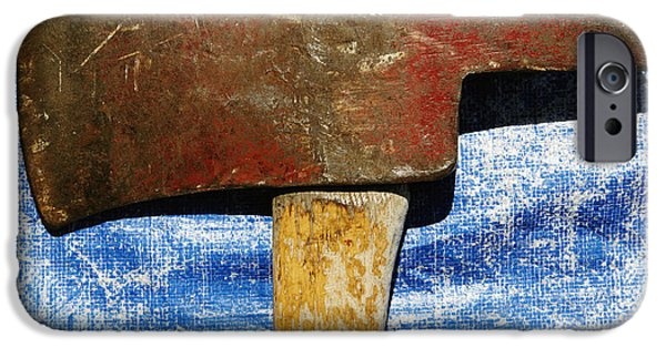 Axes iPhone Cases - Weathered Ax iPhone Case by Skip Nall