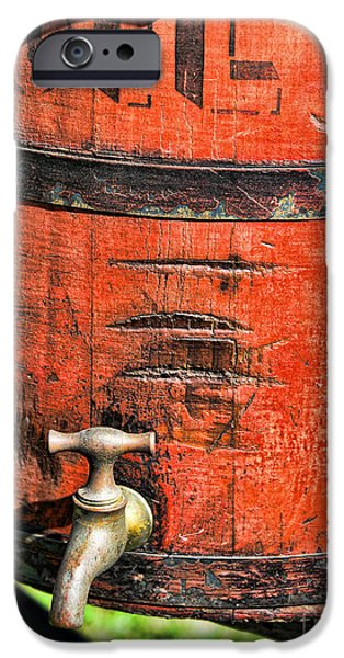 Weathered Red Oil Bucket iPhone Case by Paul Ward