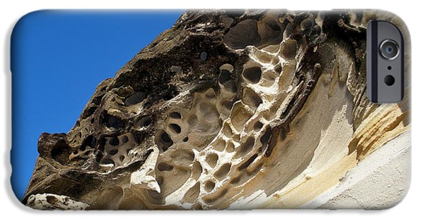 Holes In Sandstone iPhone Cases - Weathered Sandstone iPhone Case by Kaye Menner