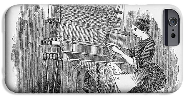 Nineteenth iPhone Cases - Weaving Loom iPhone Case by �science, �industry & Business Librarynew York Public Library