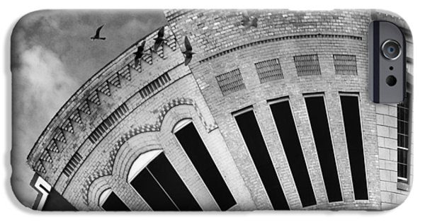 Facade Digital iPhone Cases - Wee Bryan Texas Detail in Black and White iPhone Case by Nikki Marie Smith