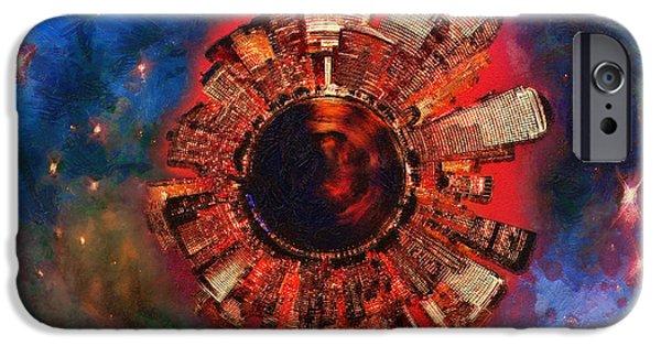 Wee Manhattan Planet - Artist Rendition iPhone Case by Nikki Marie Smith