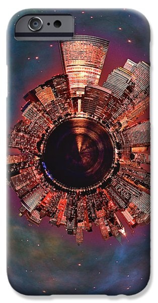Wee Manhattan Planet iPhone Case by Nikki Marie Smith