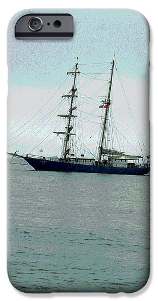 Sausalito iPhone Cases - Weighing Anchor II iPhone Case by Suzanne Gaff