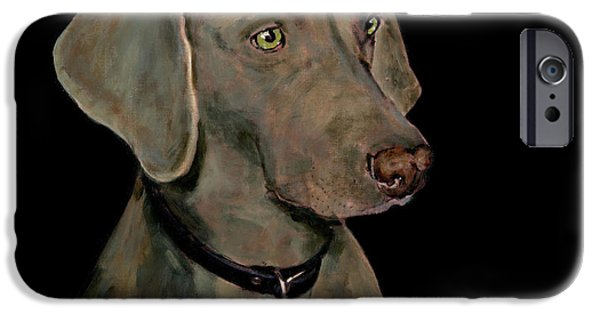 Weimaraner iPhone Cases - Weimaraner iPhone Case by Dale Moses