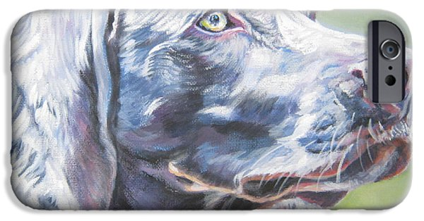 Weimaraner iPhone Cases - Weimaraner iPhone Case by Lee Ann Shepard