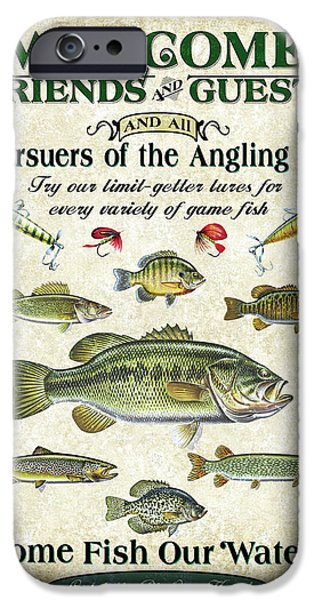Angling iPhone Cases - Welcome Friends Sign iPhone Case by JQ Licensing