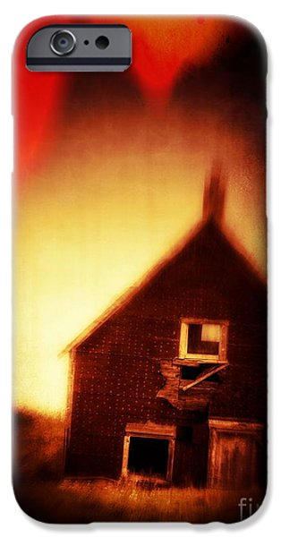 Welcome to Hell House iPhone Case by Edward Fielding