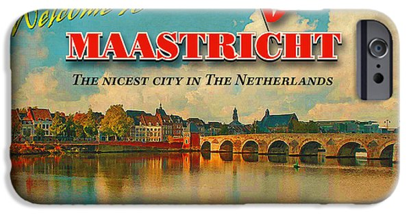 Limburg iPhone Cases - Welcome to Maastricht iPhone Case by Nop Briex