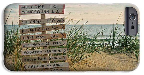 New Jersey iPhone Cases - Welcome to Manasquan iPhone Case by Robert Pilkington