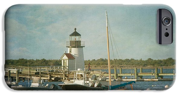 New England Lighthouse iPhone Cases - Welcome to Nantucket iPhone Case by Kim Hojnacki