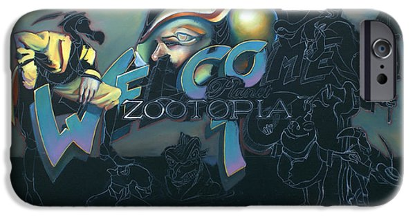 Mariners iPhone Cases - Welcome to Planet Zootopia WIP iPhone Case by Patrick Anthony Pierson