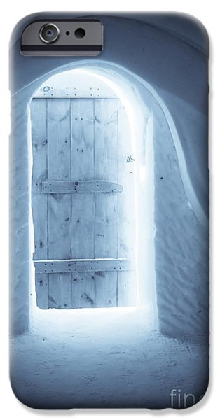 Quebec iPhone Cases - Welcome to the Ice Hotel iPhone Case by Sophie Vigneault