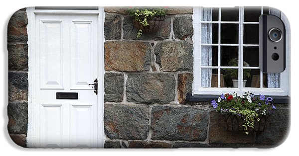 Facade iPhone Cases - Welsh cottage detail iPhone Case by Jane Rix