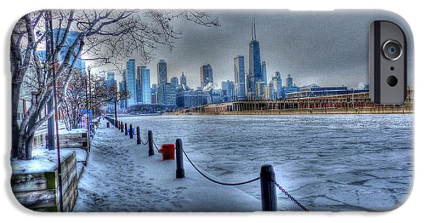 Chicago iPhone Cases - West from Navy Pier iPhone Case by David Bearden