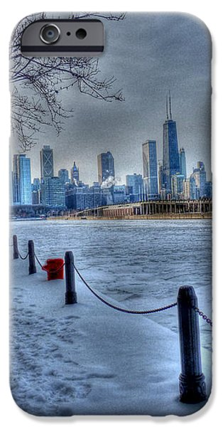West from Navy Pier iPhone Case by David Bearden