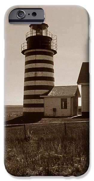 WEST QUODDY LIGHTHOUSE iPhone Case by Skip Willits