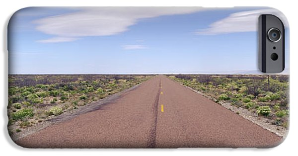 Pathway iPhone Cases - West Texas Highway iPhone Case by Jeremy Woodhouse