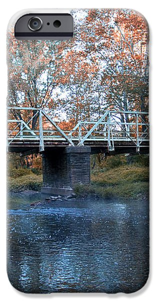 West Valley Green Road Bridge along the Wissahickon Creek iPhone Case by Bill Cannon