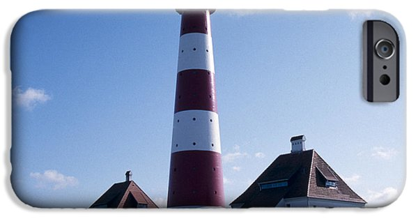 North Sea iPhone Cases - Westerhever Beacon iPhone Case by Heiko Koehrer-Wagner