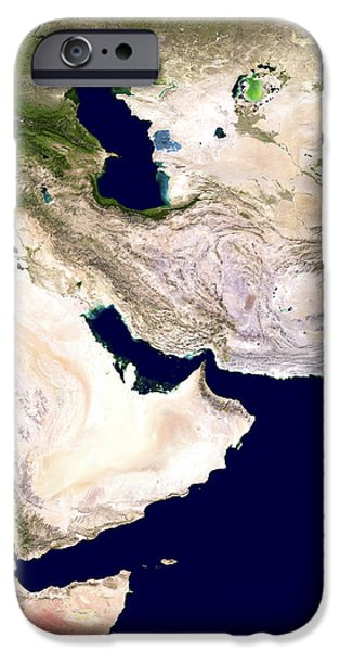 Western Asia, Satellite Image iPhone Case by Nasa