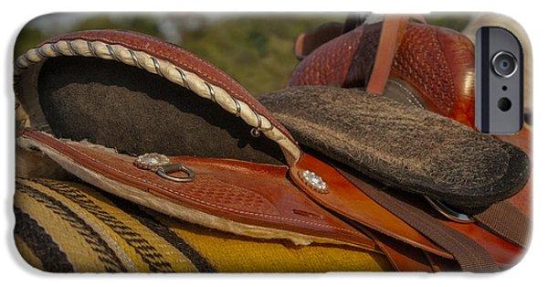 Pleasure iPhone Cases - Western Saddle iPhone Case by Susan Candelario