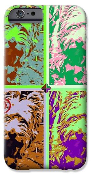 Westie Digital iPhone Cases - Westie Craz iPhone Case by Tisha McGee