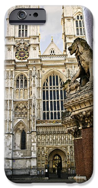 United iPhone Cases - Westminster Abbey iPhone Case by Elena Elisseeva