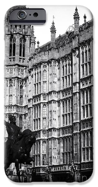 Westminster Palace iPhone Cases - Westminster History iPhone Case by John Rizzuto