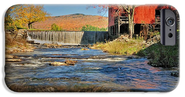 Grist Mill iPhone Cases - Weston Vermont - Grist Mill iPhone Case by Thomas Schoeller