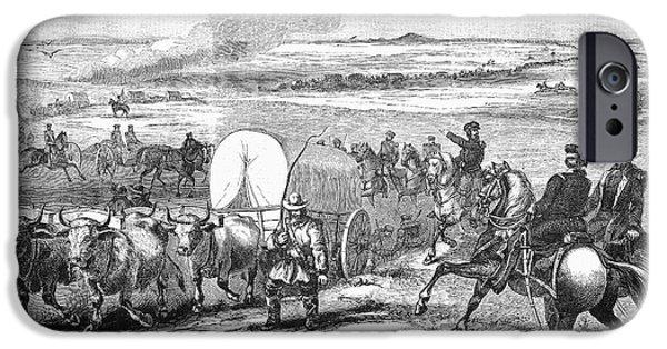 Destiny iPhone Cases - Westward Expansion, 1858 iPhone Case by Granger