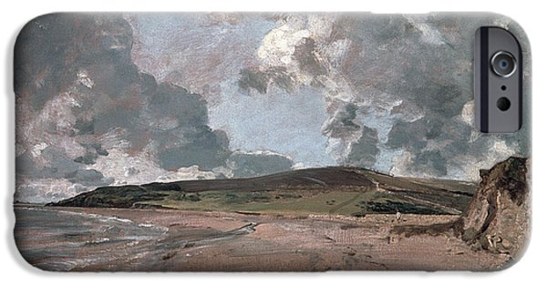 Jordan iPhone Cases - Weymouth Bay with Jordan Hill iPhone Case by John Constable